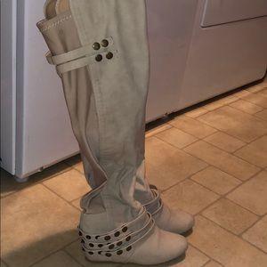 Victoria secret leather like knee boots